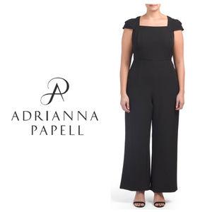 Adrianna Papell Plus Stretch Wide Leg Jumpsuit 20W